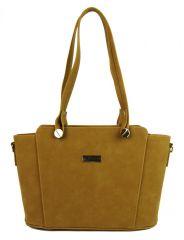 Velbloudí hnědo-žlutá dámská kabelka přes rameno S640 GROSSO E-batoh