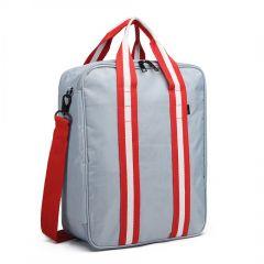 Stříbrná pánská multifunkční cestovní taška do ruky i přes rameno Travel E-batoh