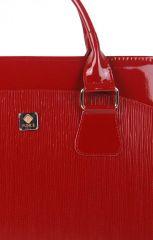 PUNCE LC-01 červená rýhovaná dámská kabelka pro notebook do 15.6 palce E-batoh