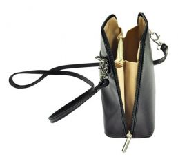 Kožená malá dámská crossbody kabelka hnědá Diva E-batoh