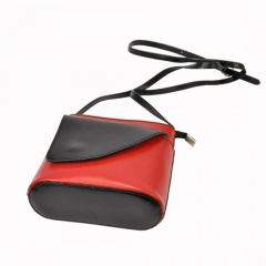 Kožená malá dámská crossbody kabelka oranžová-hnědá Gregorio E-batoh
