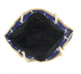 Velká tmavě modrá lehká plážová taška přes rameno H-106-2 NEW BERRY E-batoh