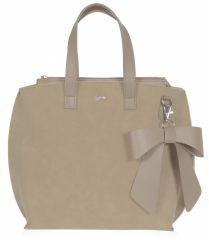 Béžová dámská kabelka s mašlí S739 GROSSO E-batoh