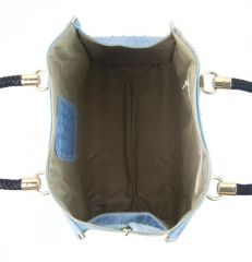 Kožená dámská kabelka Marianne světle šedá Diva E-batoh