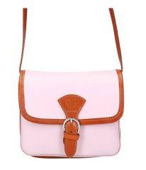Kožená malá dámská crossbody kabelka růžová Gregorio E-batoh