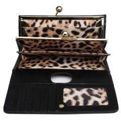 Módní dámská peněženka černá lakovaná Miss Lulu Lulu Bags (Anglie) E-batoh
