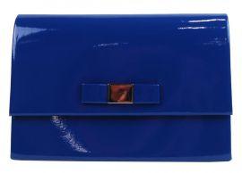 Modré lakované dámské psaníčko SP101 GROSSO E-batoh