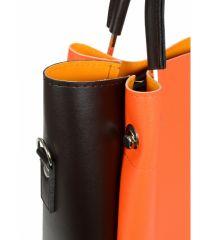Oranžová elegantní dámská kabelka S728 GROSSO E-batoh