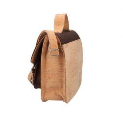 Korková mahagonová aktovková crossbody kabelka Made in Portugal E-batoh