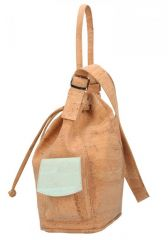Korková mentolově zelená dámská kabelka Made in Portugal E-batoh