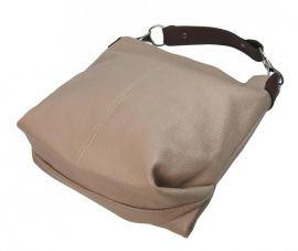 Kožená dámská kabelka Shaila bílá Diva E-batoh
