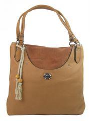 Velká moderní hnědá dámská kabelka přes rameno 4620-BB BELLA BELLY E-batoh