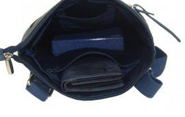 WILD Kožená pánská crossbody taška modrá E-batoh
