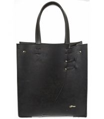 Černá moderní obdélníková dámská kabelka S753 GROSSO E-batoh