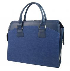 PUNCE LC-01 riflová modrá dámská kabelka pro notebook do 15.6 palce E-batoh