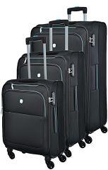 Cestovní kufry set 3ks Dielle 720-01 černá