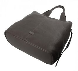 Moderní tmavší šedá dámská kabelka přes rameno 5064-TS TESSRA E-batoh