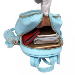 Roztomilý modrý designový dámský batůžek Miss Lulu Lulu Bags (Anglie) E-batoh