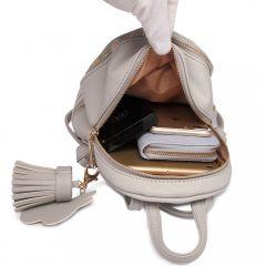 Roztomilý šedý designový dámský batůžek Miss Lulu Lulu Bags (Anglie) E-batoh
