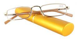 Dioptrické brýle v pouzdru Effect 555/ +0,50 GOLD