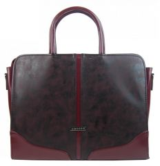 """Elegantní dámská aktovka / taška na notebook 15.6"""" hladká vínová ST03 GROSSO"""