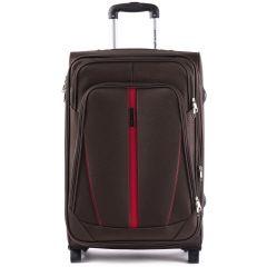 Sada 3 textilních kufrů WINGS 1706 COFFEE L/M/S E-batoh