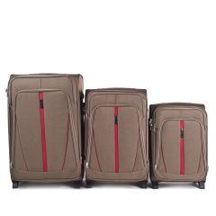 Sada 3 textilních kufrů WINGS 1706 DOUBLE YELLOW L/M/S