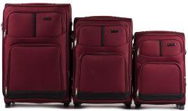 Sada 3 textilních kufrů WINGS 206 RED L/M/S