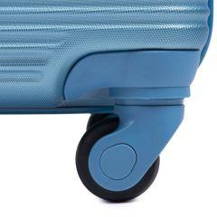Cestovní kufry sada WINGS 203 ABS SILVER L,M,S E-batoh