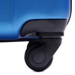 Cestovní kufry sada WINGS 888 ABS SILVER L,M,S E-batoh