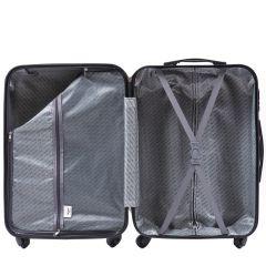 Cestovní kufry sada WINGS 608 ABS DARK BLUE L,M,S E-batoh