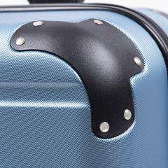 Cestovní kufry sada WINGS 608 ABS SILVER BLUE L,M,S E-batoh