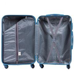 Cestovní kufr WINGS 203 ABS CHAMPAGNE malý xS E-batoh