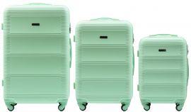 Cestovní kufry sada WINGS 203 LIGHT GREEN L,M,S