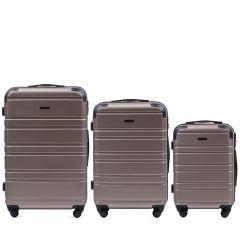 Cestovní kufry sada WINGS 608 ABS CHAMPAGNE L,M,S