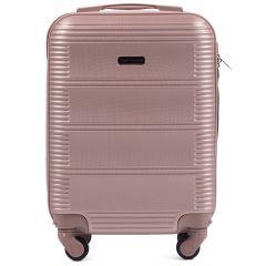 Cestovní kufr WINGS 203 ABS ROSE GOLD malý xS