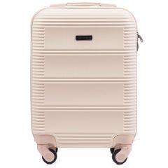 Cestovní kufr WINGS 203 ABS DIRTY WHITE malý xS