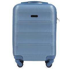Cestovní kufr WINGS 203 ABS SILVER BLUE malý xS