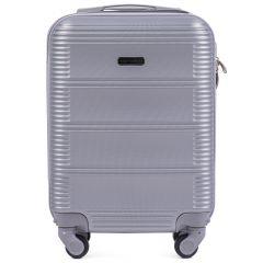 Cestovní kufr WINGS 203 ABS SILVER malý xS