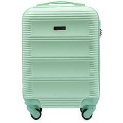 Cestovní kufr WINGS 203 ABS LIGHT GREEN malý xS