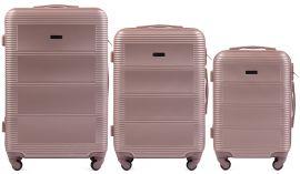 Cestovní kufry sada WINGS 203 ABS ROSE GOLD L,M,S