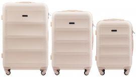 Cestovní kufry sada WINGS 203 ABS DIRTY WHITE L,M,S