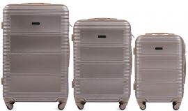 Cestovní kufry sada WINGS 203 ABS CHAMPAGNE L,M,S