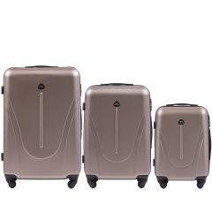 Cestovní kufry sada WINGS 888 ABS CHAMPAGNE L,M,S