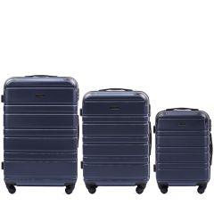 Cestovní kufry sada WINGS 608 ABS DARK BLUE L,M,S