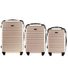 Cestovní kufry sada WINGS 608 ABS DIRTY WHITE L,M,S
