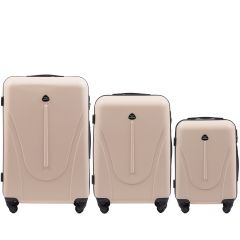 Cestovní kufry sada WINGS 888 ABS DIRTY WHITE L,M,S