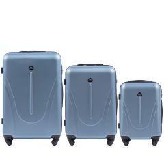 Cestovní kufry sada WINGS 888 ABS SILVER BLUE L,M,S