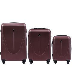 Cestovní kufry sada WINGS 888 ABS RED L,M,S