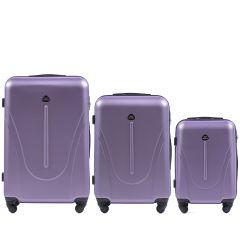 Cestovní kufry sada WINGS 888 ABS SILVER PURPLE L,M,S